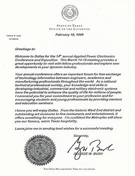 Governor Bush APEC 1999